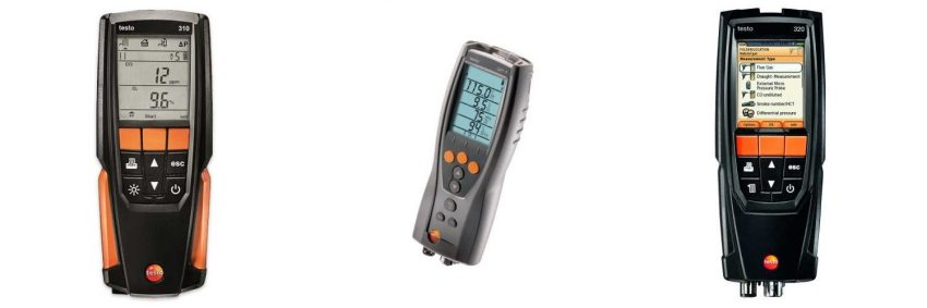 Testo flue gas analysers